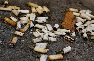They drop cigarette butts in your yard